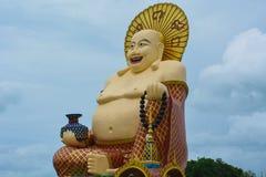 胖的神雕象 库存图片