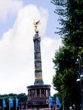 胜利专栏或Siegessäule是著名视域在柏林 免版税库存图片
