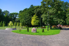 胜利公园在加里宁格勒 免版税库存图片