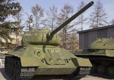 胜利公园 巨大爱国战争的军用设备样品  免版税库存图片
