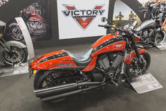 胜利在EICMA的锤子摩托车2014年在米兰,意大利 免版税库存照片