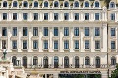 胜利大道的旅馆国会大厦 免版税库存图片