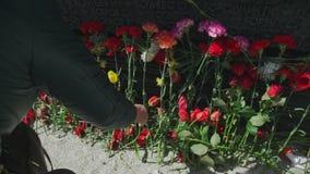 胜利天在俄罗斯:投入的传统开花到记忆墙壁  影视素材
