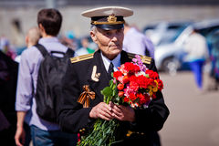 胜利天庆祝在莫斯科 图库摄影