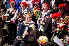 胜利天庆祝在莫斯科 免版税图库摄影