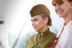 胜利天庆祝在莫斯科 免版税库存图片