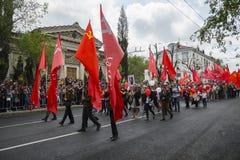 胜利天游行在塞瓦斯托波尔 库存图片