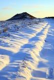 胜利小山在12月,德贝郡,英国 免版税库存图片
