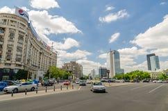 胜利广场在布加勒斯特 免版税库存图片
