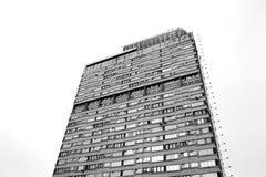 胜利广场的住宅摩天大楼 免版税图库摄影