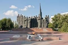 胜利广场(沃罗涅日),俄罗斯 免版税库存图片