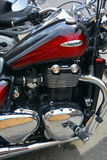 胜利摩托车 库存图片