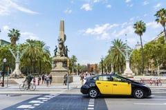胜利曲拱在巴塞罗那,西班牙 免版税库存图片