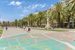 胜利曲拱在巴塞罗那,西班牙 库存图片