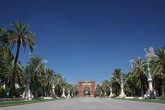 胜利曲拱在巴塞罗那 免版税库存照片