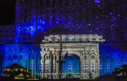 胜利曲拱在议会的宫殿的 图库摄影