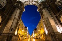 胜利曲拱在里斯本 免版税图库摄影