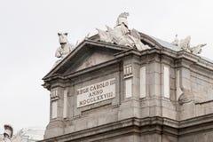胜利曲拱在马德里 库存图片