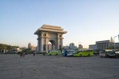 胜利曲拱的看法  DPRK -北朝鲜 免版税库存照片