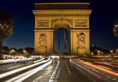 胜利曲拱,巴黎法国 免版税库存照片