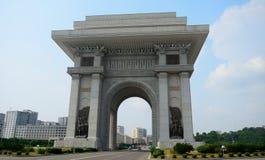 胜利曲拱,平壤,北朝鲜 免版税库存图片