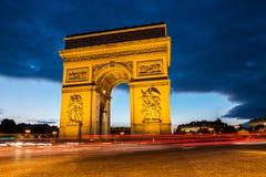 胜利曲拱,巴黎 免版税图库摄影