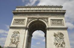 胜利曲拱从巴黎的在法国 免版税图库摄影