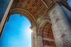 巴黎胜利曲拱  库存照片