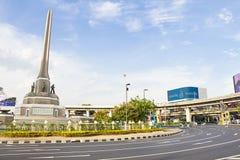 胜利曼谷的纪念碑中心 库存图片