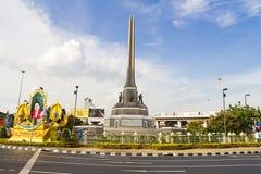 胜利曼谷的纪念碑中心 库存照片