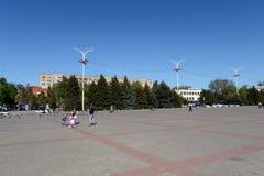 胜利正方形在市Volgodonsk 图库摄影