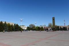 胜利正方形在市Volgodonsk 库存照片