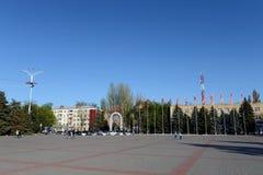 胜利正方形在市Volgodonsk 免版税图库摄影