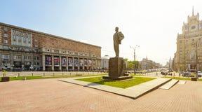 胜利正方形(Triumfalnaya Ploshchad)在莫斯科 免版税库存图片