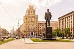 胜利正方形(Triumfalnaya Ploshchad)在莫斯科 免版税库存照片