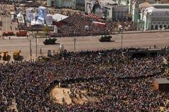胜利游行坦克,莫斯科,俄罗斯 免版税库存图片