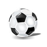 胜利的古典足球 免版税库存图片