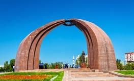 胜利的纪念碑在比什凯克-吉尔吉斯斯坦 免版税库存图片