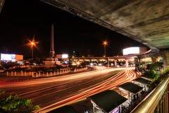胜利纪念碑在曼谷,在6月1941被架设了作为泰国首都地标  免版税库存照片