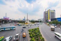 胜利纪念碑在曼谷,泰国 库存照片