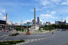 胜利纪念碑在曼谷 库存照片