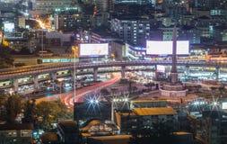胜利纪念碑,曼谷,泰国 免版税库存照片