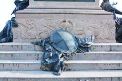 胜利雕象,在圣马克& x27; s正方形,威尼斯,意大利 库存图片