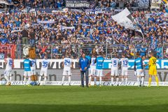 胜利:反对Sportfreunde Lotte的katrlsruher SC 库存图片