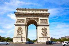 胜利巴黎曲拱的凯旋门  免版税库存图片