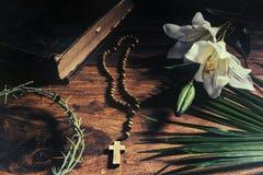 胜利-激情-在十字架上钉死-复活 免版税图库摄影