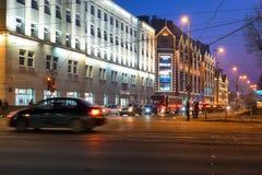 胜利(Pobedy)正方形 加里宁格勒 免版税库存图片