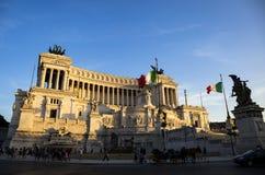 胜者伊曼纽尔的纪念碑:阿尔塔雷della Patria 库存照片