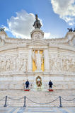 胜者伊曼纽尔纪念碑。 罗马,意大利。 库存图片