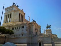 胜者伊曼纽尔II纪念碑在罗马 意大利 库存图片